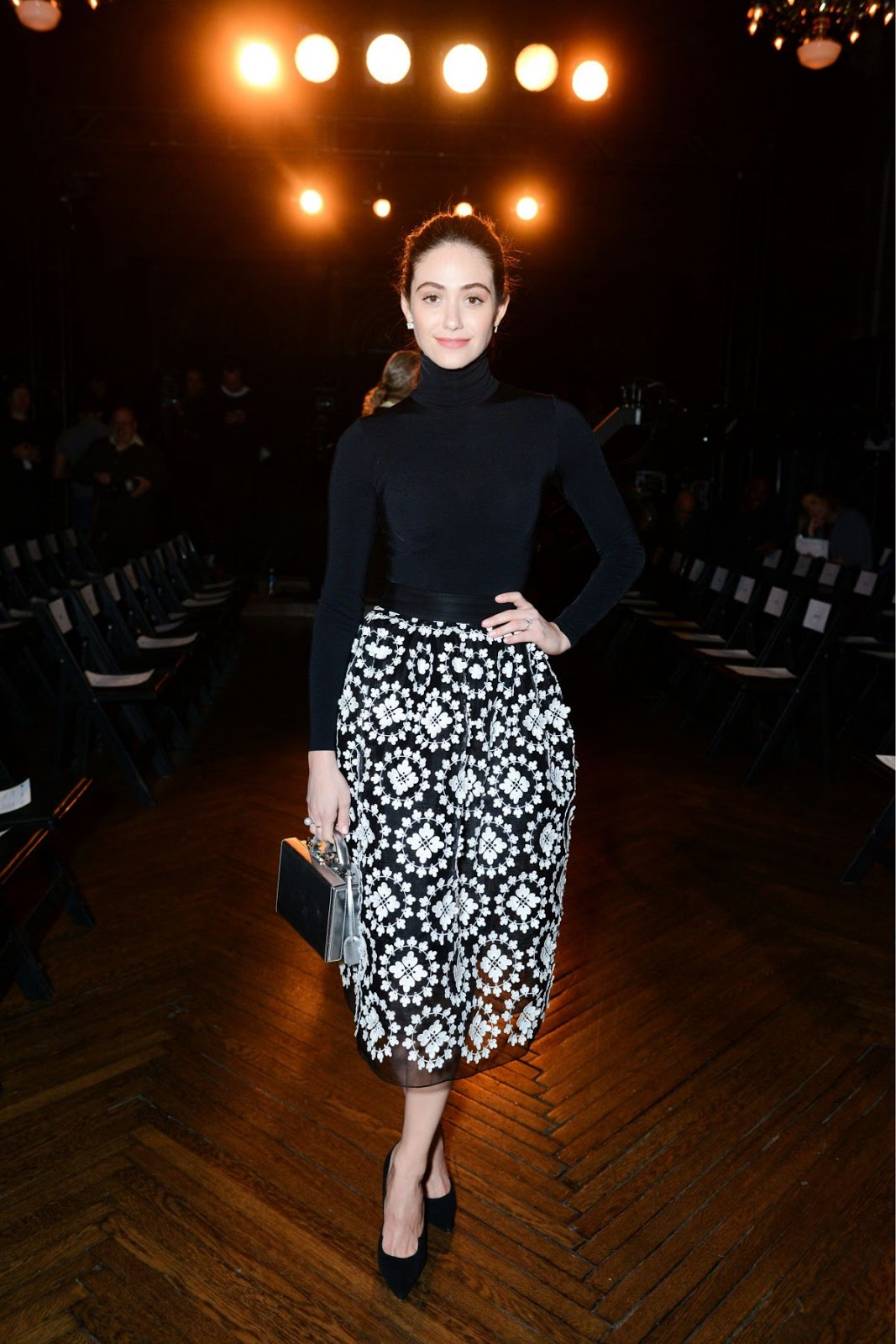 Emmy Rossum At Monse Front Row Show At New York Fashion