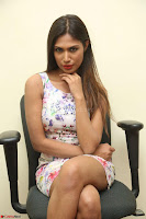 Nishi Ganda stunning cute in Flower Print short dress at Tick Tack Movie Press Meet March 2017 135.JPG