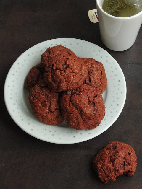 Eggless double chocolate Cookies