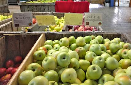 Bins of apples