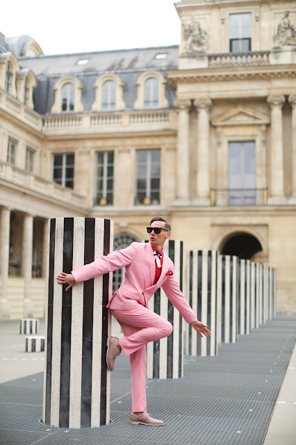 MEN IN PINK SUITS