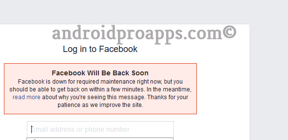 عطل فيس بوك ـ حدوث عطل مفاجئ في الفيسبوك