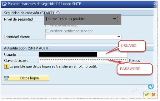 SAPConnect Configuración SMTP seguridad - Consultoria-sap