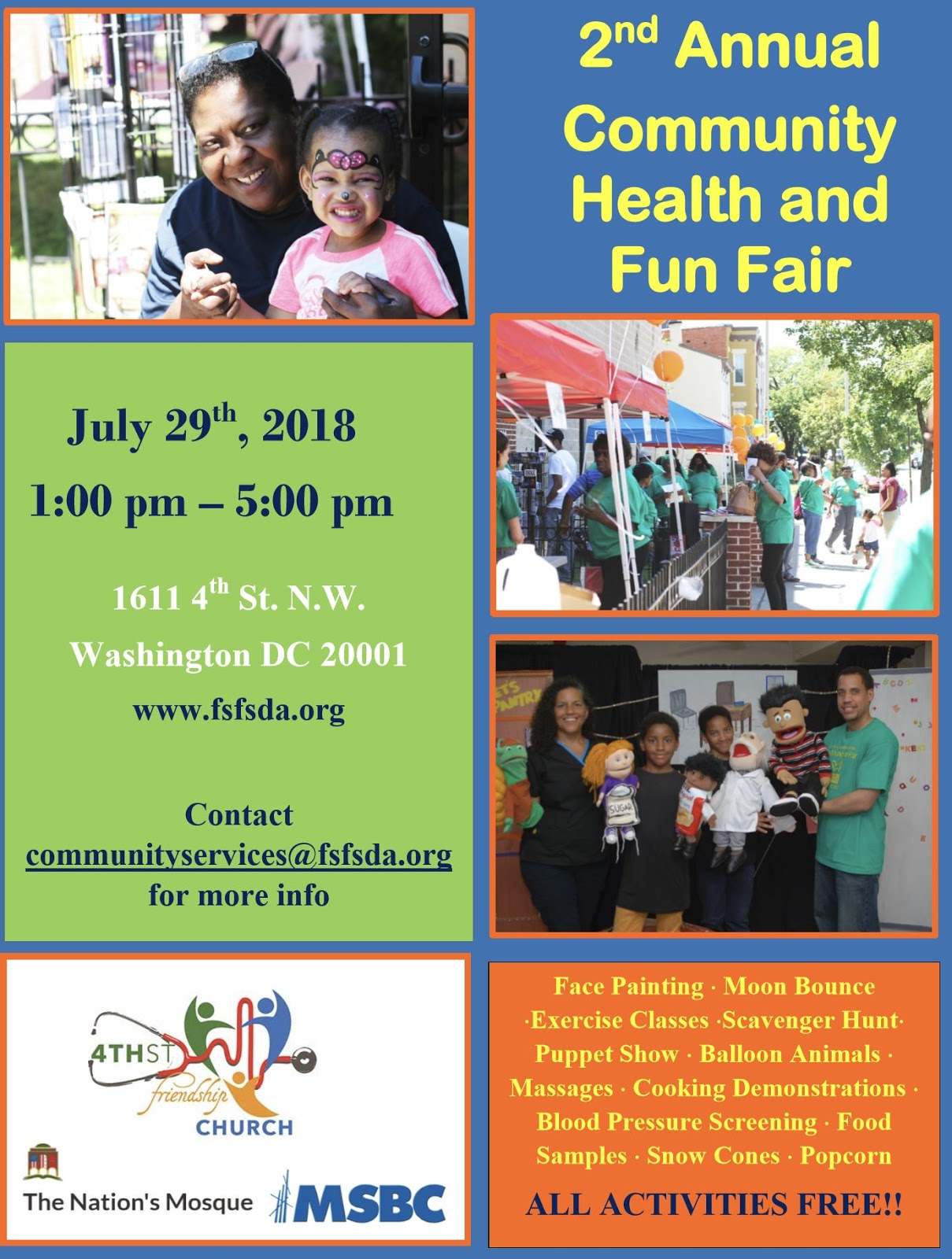 bloomingdale: add the 2nd Annual Community Health and Fun