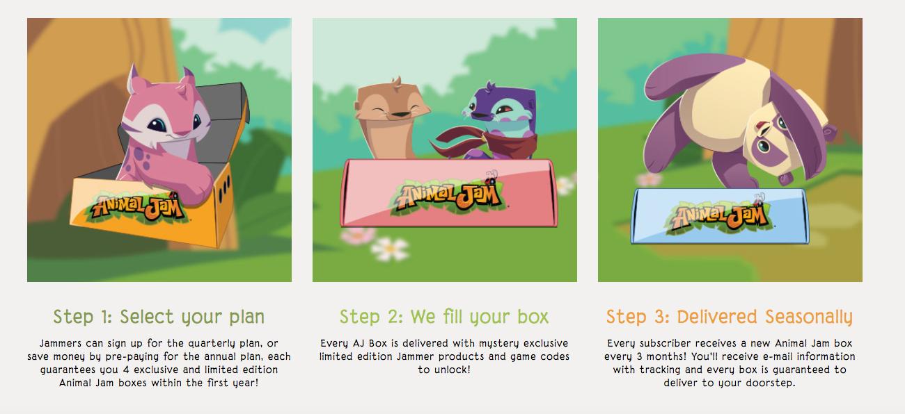 Animal Jam Box Codes