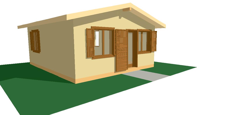 Progetti di case in legno casa 40 mq for Progetto casa 40 mq