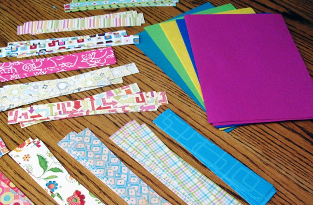 Bahan Kertas Membuat Anyaman Kertas Warna Sederhana
