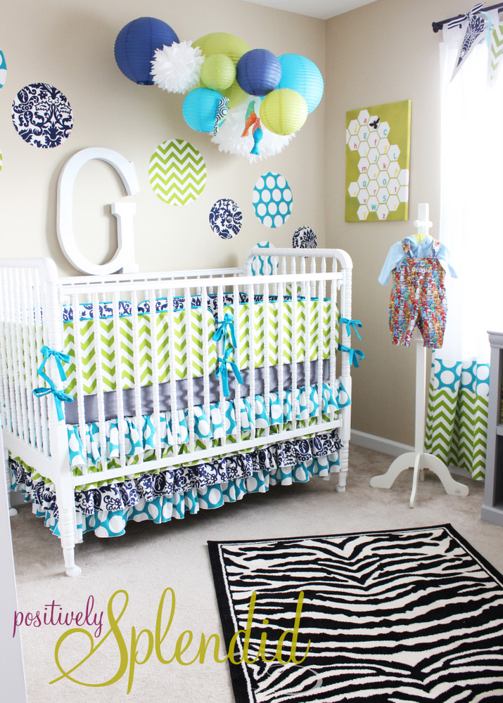 Baby Boy Nursery Tour - Positively Splendid {Crafts ...