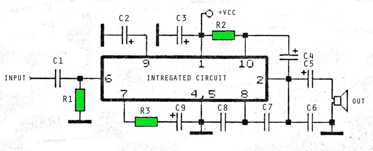 6 watt 4 ohm amplifier circuit