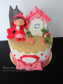 Bolo de aniversário Capuchinho Vermelho