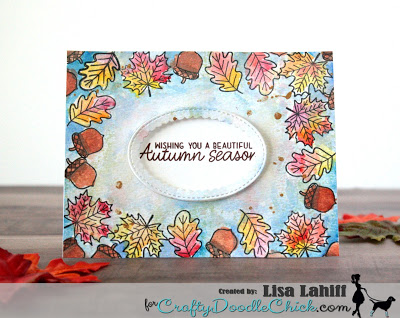 Sunny Studio Stamps: Beautiful Autumn Customer Card by Lisa Lahill