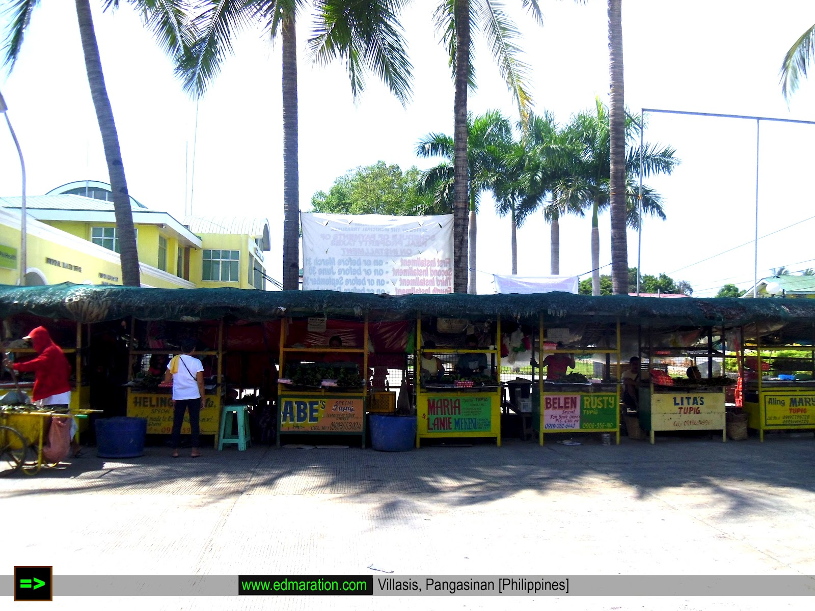 Tupig Stalls in Villasis Pangasinan
