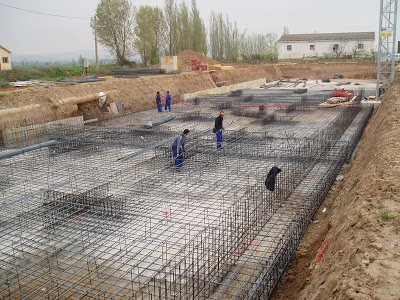 Construcción de Losas de fundación