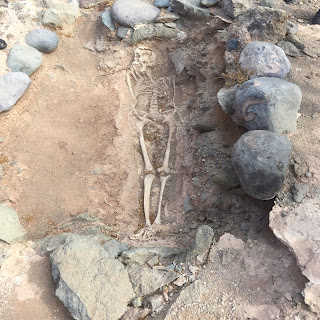 A shallow grave on an archaeological site, Gran Canaria