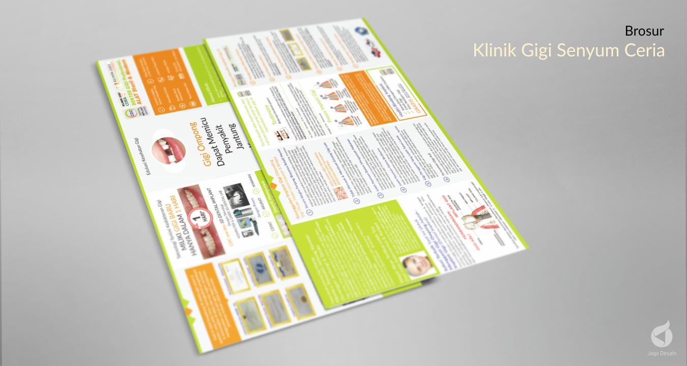 Portfolio Jago Desain - Brosur Klinik Gigi Senyum Ceria