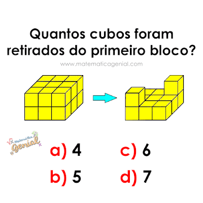 Descubra: Quantos cubos foram retirados do primeiro bloco?