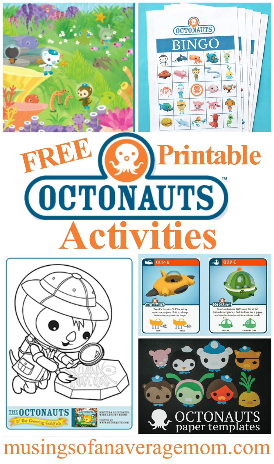 photograph relating to Octonauts Printable known as Musings of an Ordinary Mother: Octonauts Pursuits