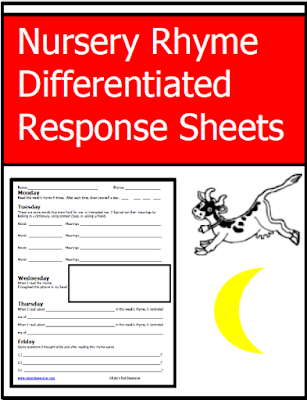 Free resources - nursery rhyme response sheets from Raki's Rad Resources.