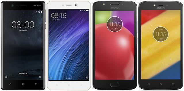 Nokia 3 vs Xiaomi Redmi 4A vs Motorola Moto E4 vs Motorola Moto C Plus