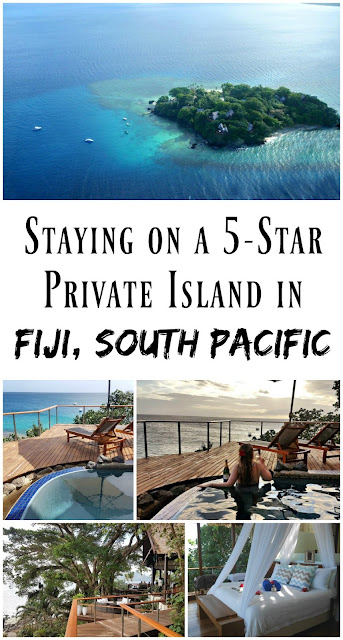 PIN FOR LATER: Staying on a five-star private island resort in Fij, South Pacific. At Royal Davui Island you can enjoy helicopter transfers, your own private plunge pool, and every villa has a private terrace and view of the ocean!