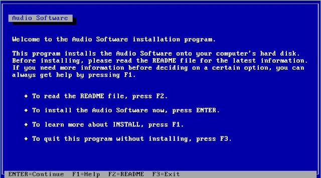 Supratim Sanyal's Blog: Creative Labs SoundBlaster SB 16 DOS Driver Installation
