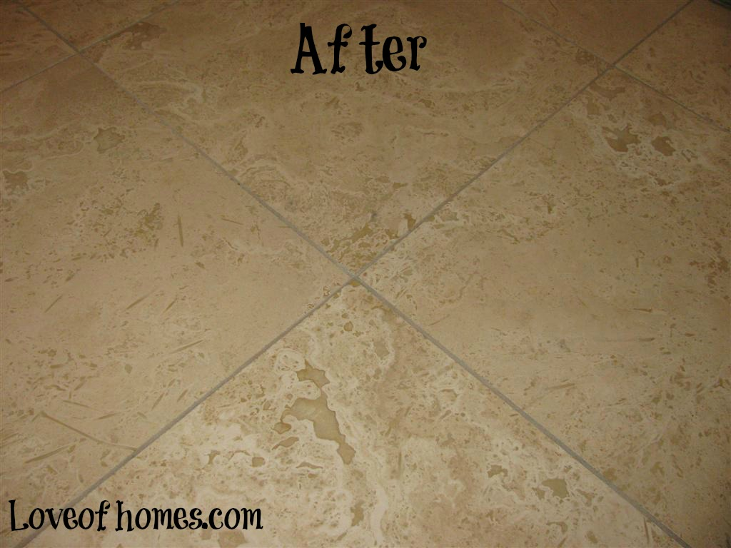 LOVE OF HOMES: Cleaning & Sealing Travertine Tile