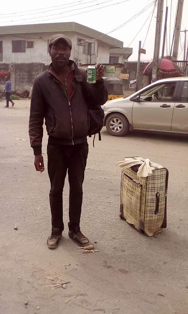 Photos/Video: Stranded UK-based Nigerian man on Christmas vacation roams the streets of Lagos 3 weeks after arrival