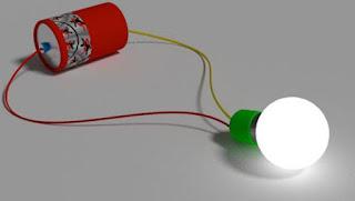 penjelasan sirkuit listrik bola lampu
