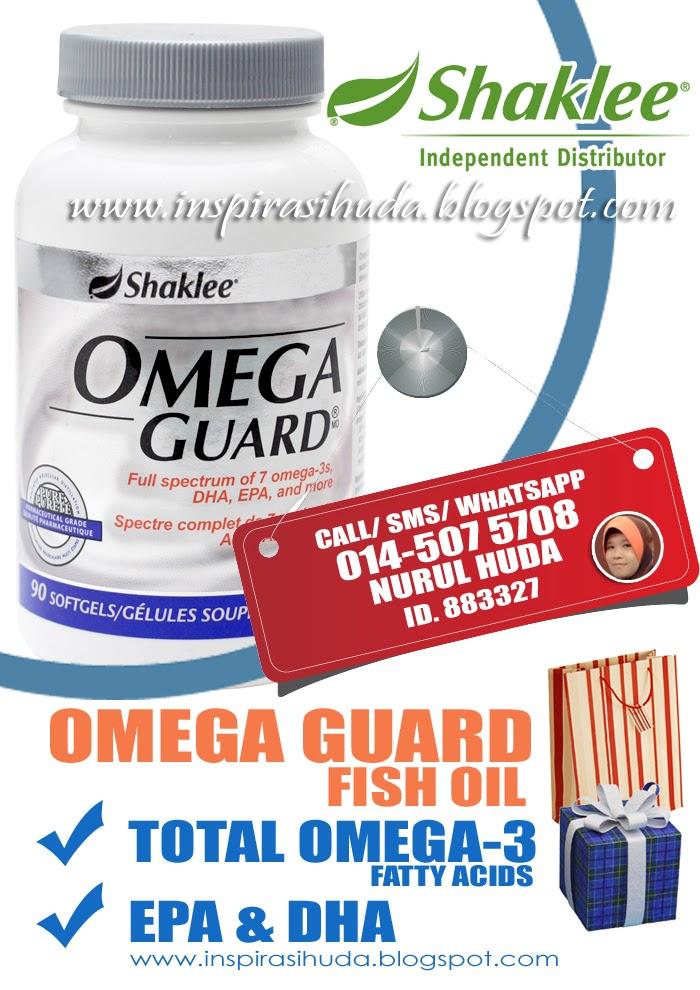 Omega Guard Shaklee mengandungi ALA, EPA dan DHA