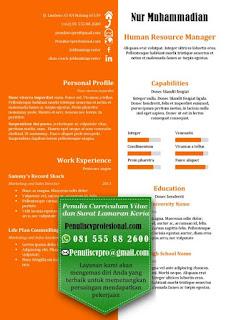 Desain CV Menarik