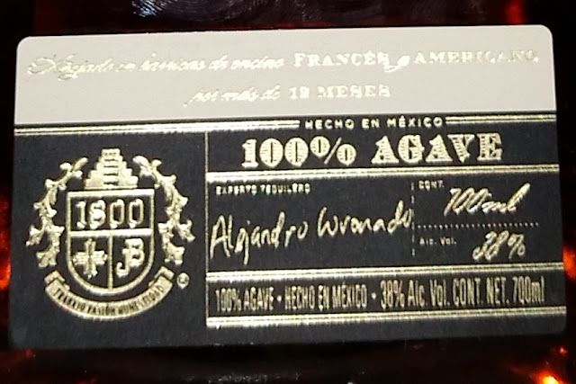 tequila - 1800 Añejo label at the front