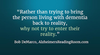 Alzheimer's care, why not enter the reality of a dementia patient.
