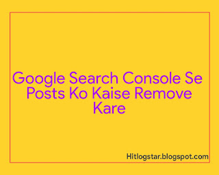 How To Remove Content from Google Search Console