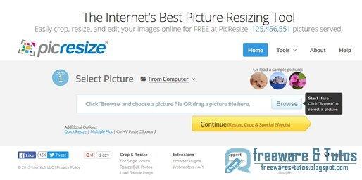 PicResize : retaillez vos images directement en ligne