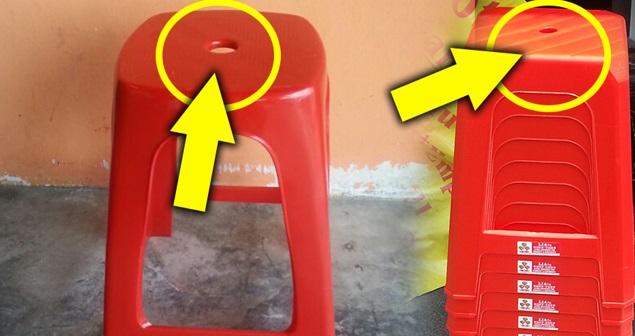 RAMAI YG TAK TAHU & SALAH GUNA ! Rupanya Ini Fungsi Lubang Pada Kerusi Plastik