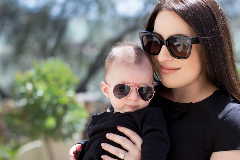 GOLD RIMMED BABY AVIATORS