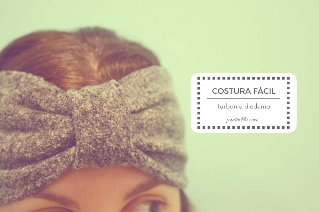 Costura fácil turbantes diadema de tela