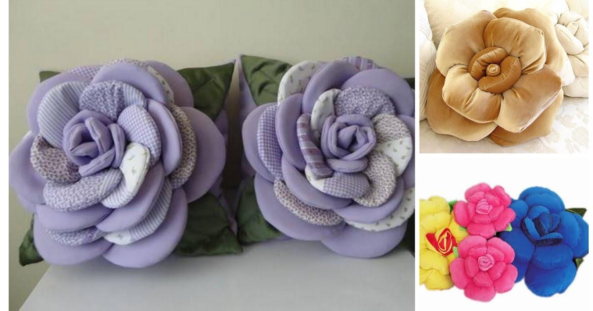 Aprende c mo hacer cojines con forma de flor moldes - Cojines bonitos ...