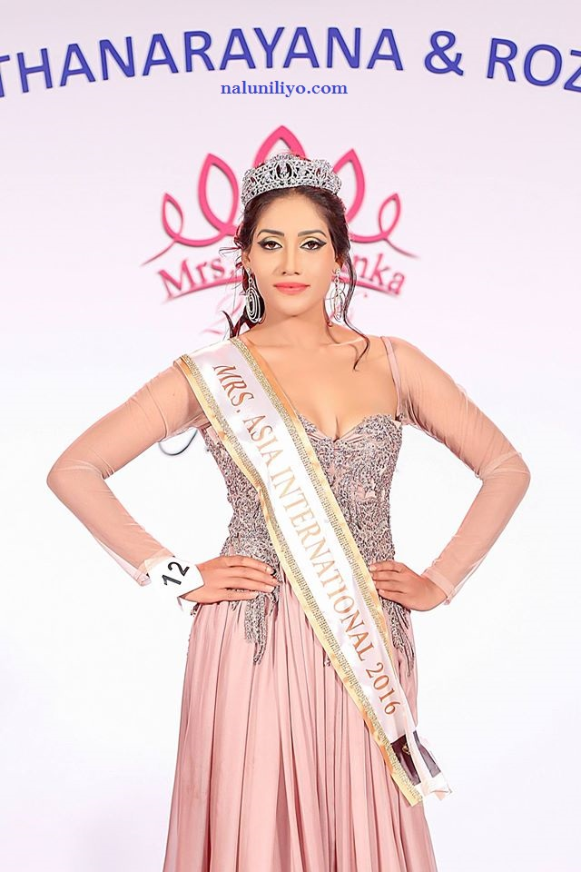 Mrs. Sri Lanka 2016 for Mrs. Asia lsk madugala lakmali madugala