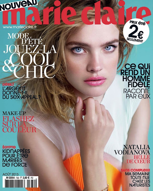 natalia vodianova on cover magazine photoshoot for marie claire france magazine august 2013. Black Bedroom Furniture Sets. Home Design Ideas