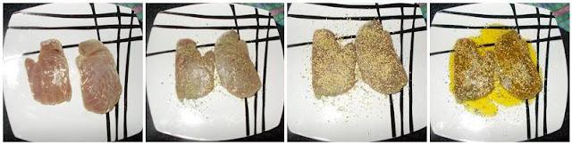 Bifes de atum com sementes de sésamo