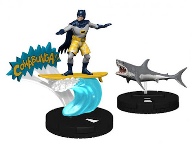 San Diego Comic-Con 2016 Exclusive DC Comics Batman '66 HeroClix Set Surfing Batman with Shark