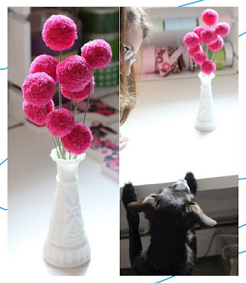 DIY ดอกไม้ประดิษฐ์จากไหมพรม