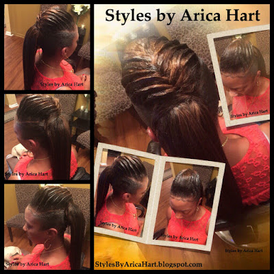 Pontail hair styles, hair styles for black women