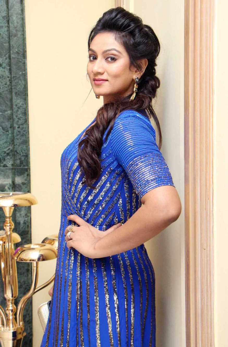 Telugu TV Actress Ashmita Karnani Hot In Blue Dress