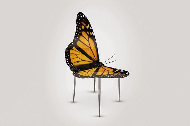 Sillon Exotico en forma de mariposa