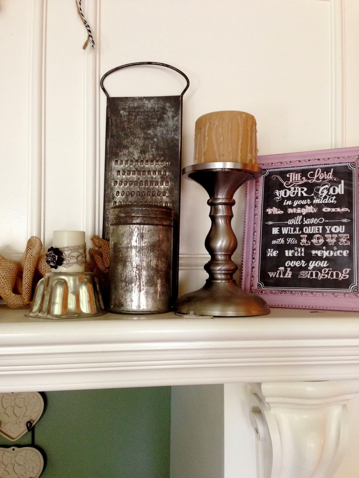 Plays Well With Paper Vintage Valentine Home Decor Black Burlap