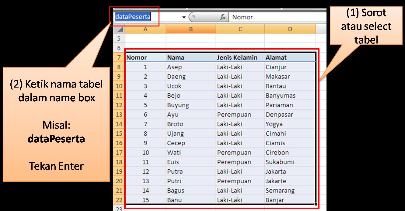 Belajar Microsoft Excel: VLOOKUP Excel- Rumus Jitu Yang ...