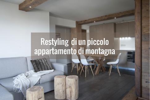 Restyling di piccolo appartamento di montagna blog di for Appartamento design interni