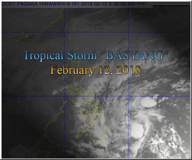 """BASYANG"" HAS SLIGHTLY SLOWED DOWN AS IT CONTINUES TO TRACK IN A WEST NORTHWEST DIRECTION."
